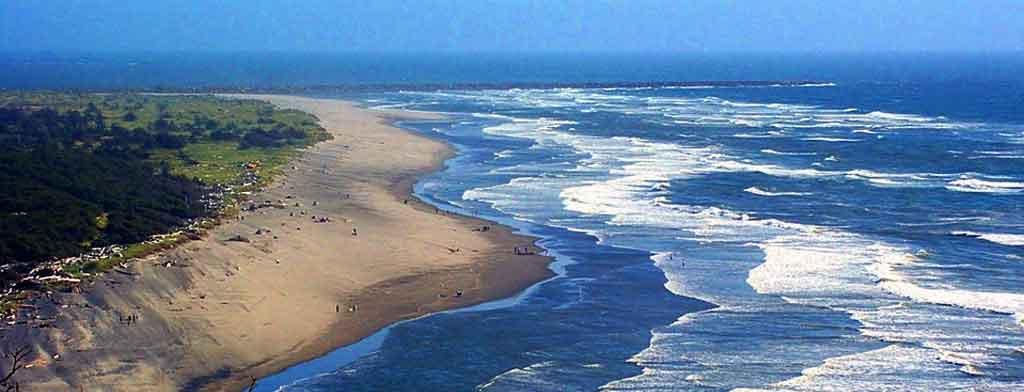 aerial view of long beach